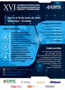 XVI Congreso Internacional Multidisciplinario de Ciencia y Tecnología @ Universidad de las Fuerzas Armadas ESPE